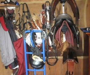 Inexpensive Customized Tack Room: Saddle Racks and Bridle Racks