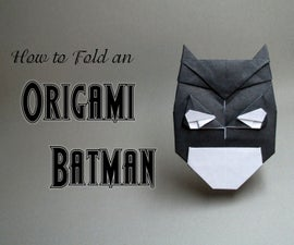 ORIGAMI BATMAN TUTORIAL (with Video!)