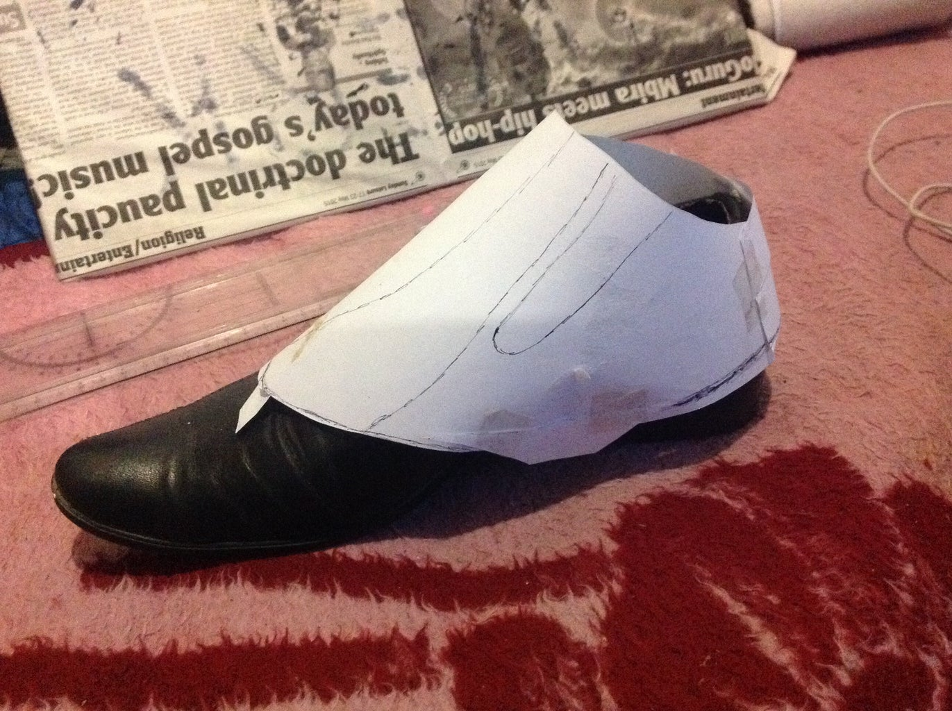 Creating a Paper Template of Your Spats
