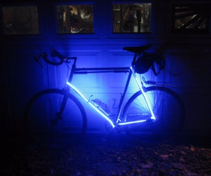 Super Bright - Simple Low Cost DIY  Bike Frame Lighting