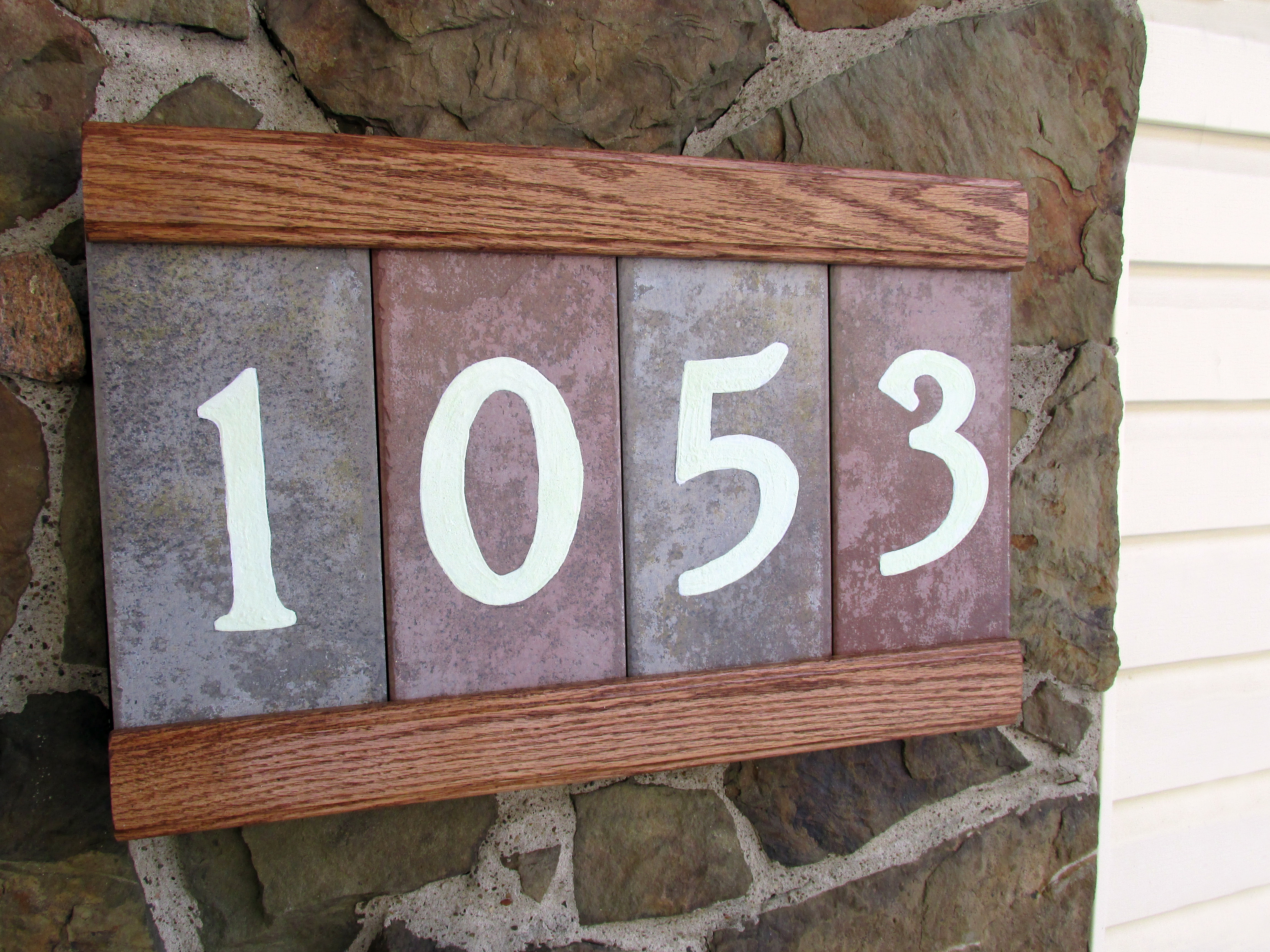 Hand Made Address Plaque with Glowing Numbers & Secret Compartment!