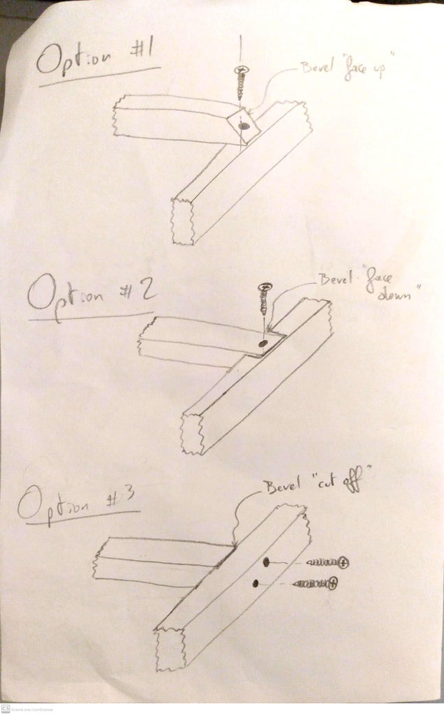 """Add 5 of the 2""""x2"""" Balusters to the 'back' Frame"""