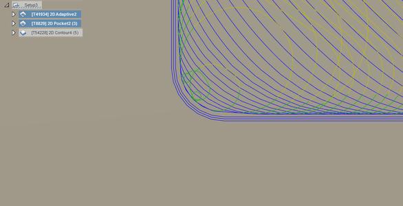 Setup3: 2D Pocket Finishing