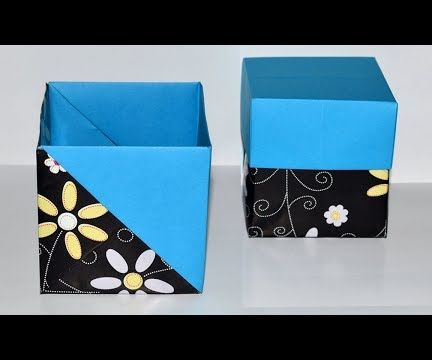 How to Make Your Own Paper Box EASY - Origami Gift Box DIY