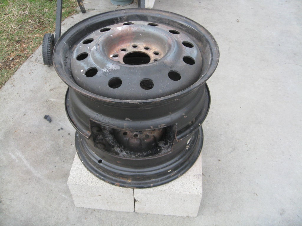 No Weld Car Rims Fire Pit 3 Steps With Pictures Instructables
