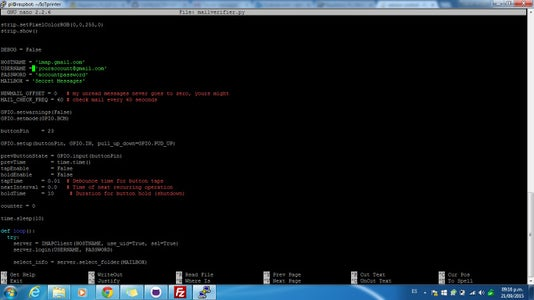 Configuring the Script in the Raspberry