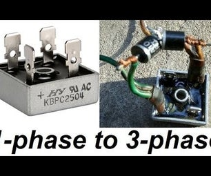 Converting a 1-phase Rectifier Into a 3-phase Rectifier