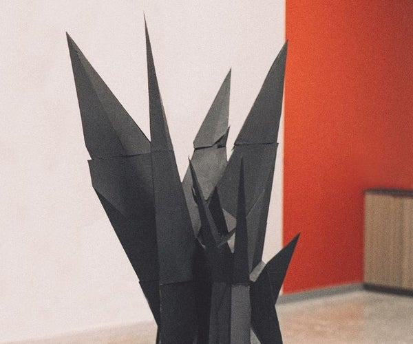 Cardboard Sculpture From 3D Model