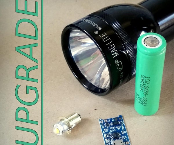Maglite USB充电18650和LED升级