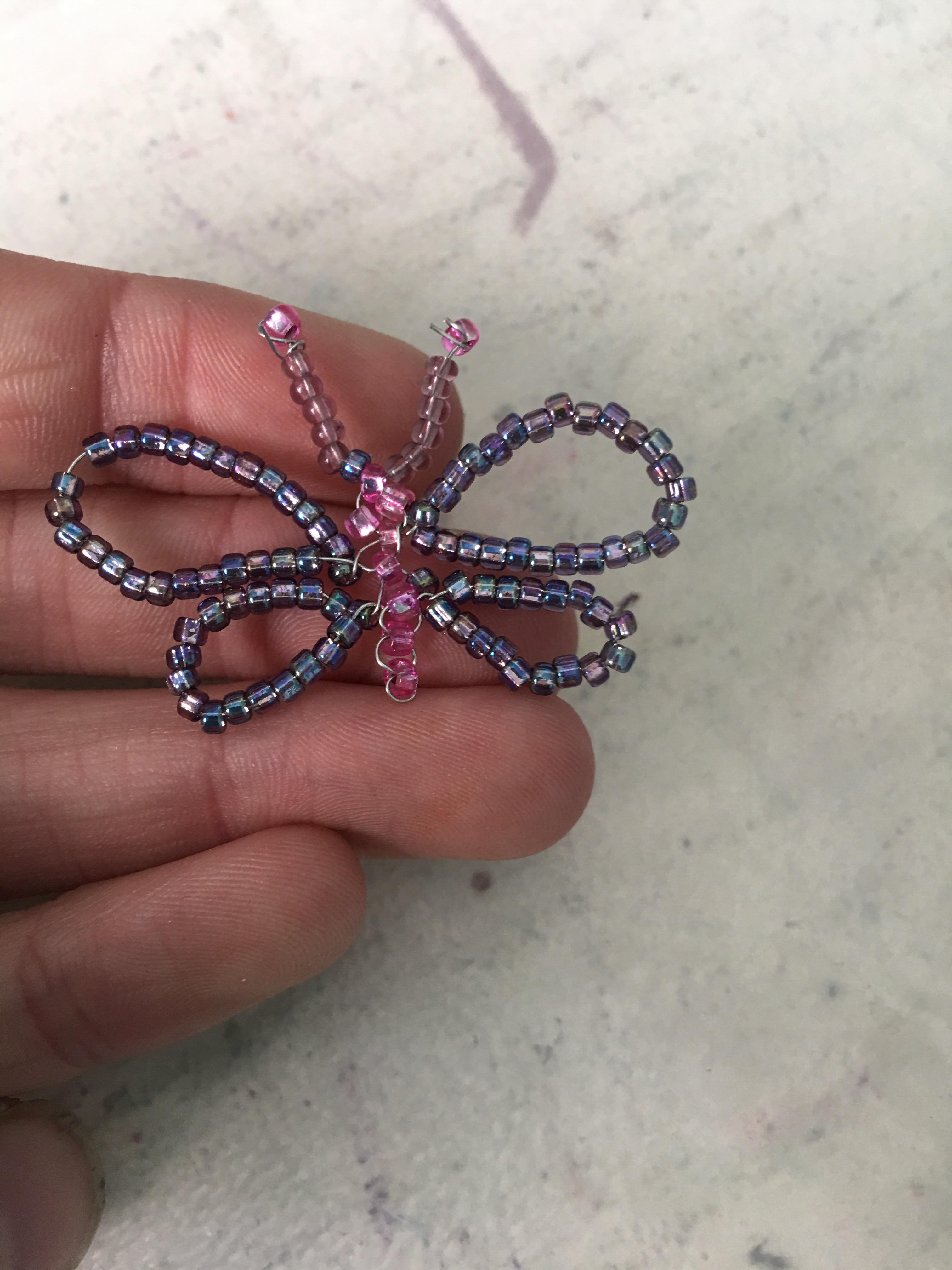 Beaded Butterfly Pendant