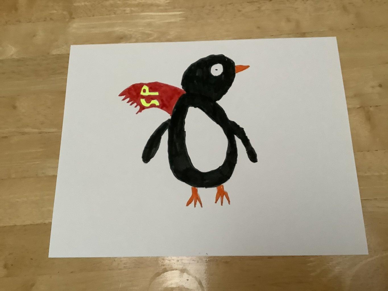 Final Coloring (Feet, Beak, Cape, Letters on Cape)