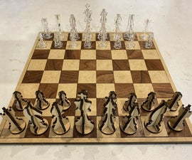 Laser Cut Chess and Checkers Set