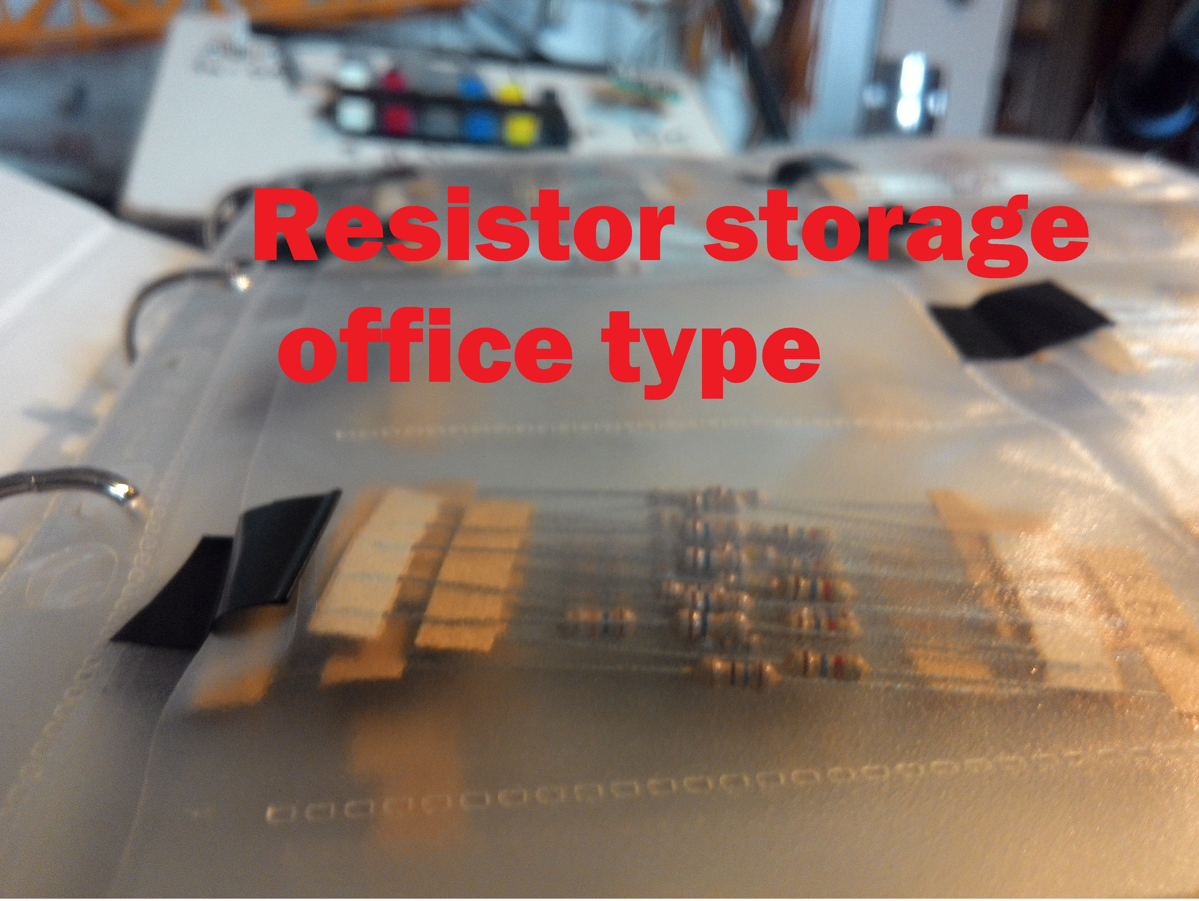 Resistor storage - office type