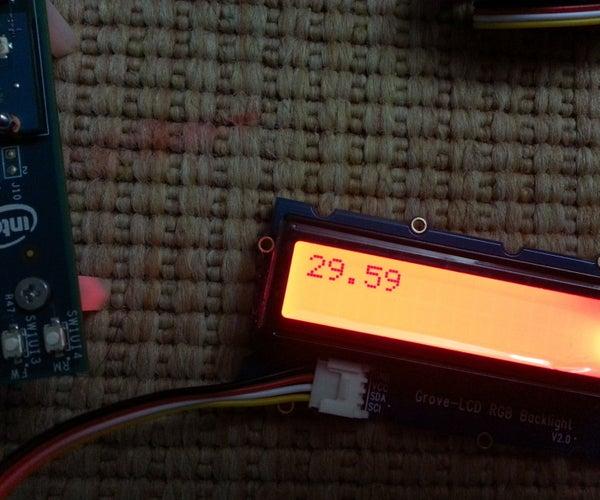 Creating a Digital Thermometer Using Intel Edison