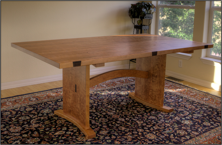 Dining Table with Side Extensions