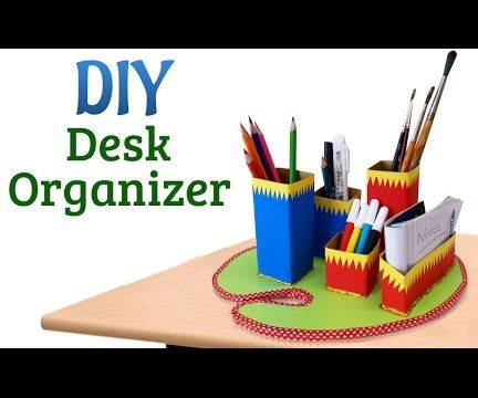 Recycled Craft Project: How to Make DIY Desk Organizer