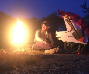 四分之一露营车,一辆自行车大篷车