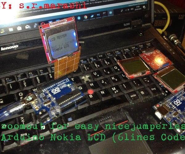 Arduino Super Easy Nokia LCD