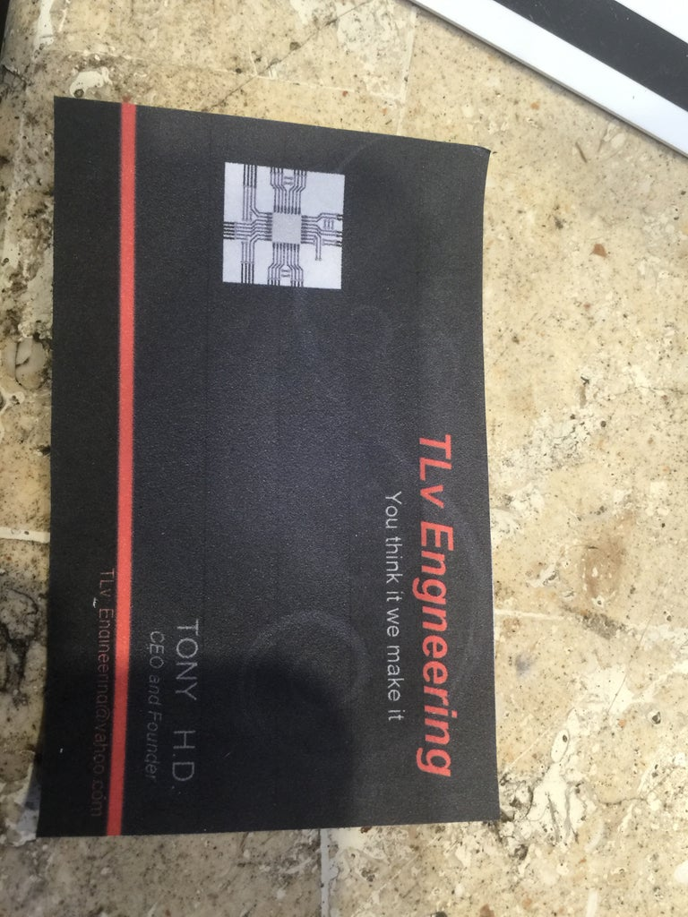 Business Card Thermal Charger