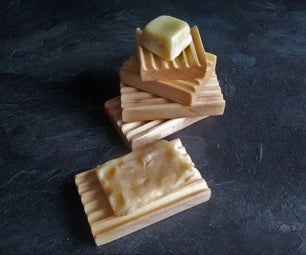 木制肥皂盘/ porte-savons en bois
