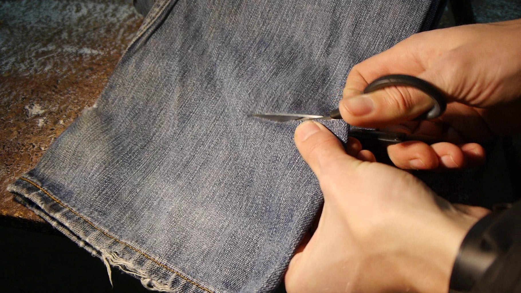 Cutting and Gluing Fabric