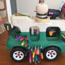Rolling Tool & Craft Cart from Child's Truck