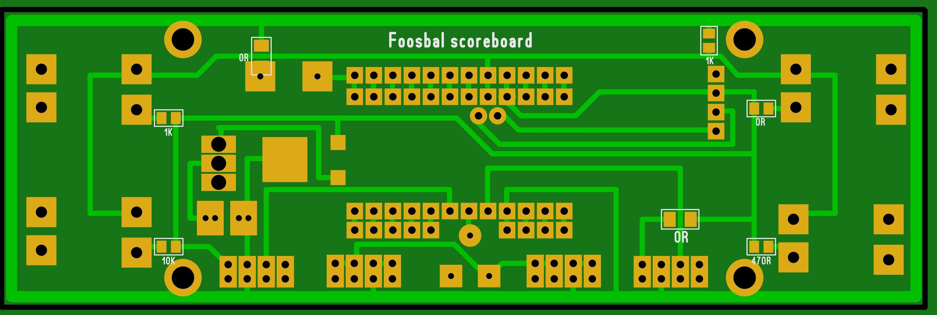 PCB for Foosball Scoreboard
