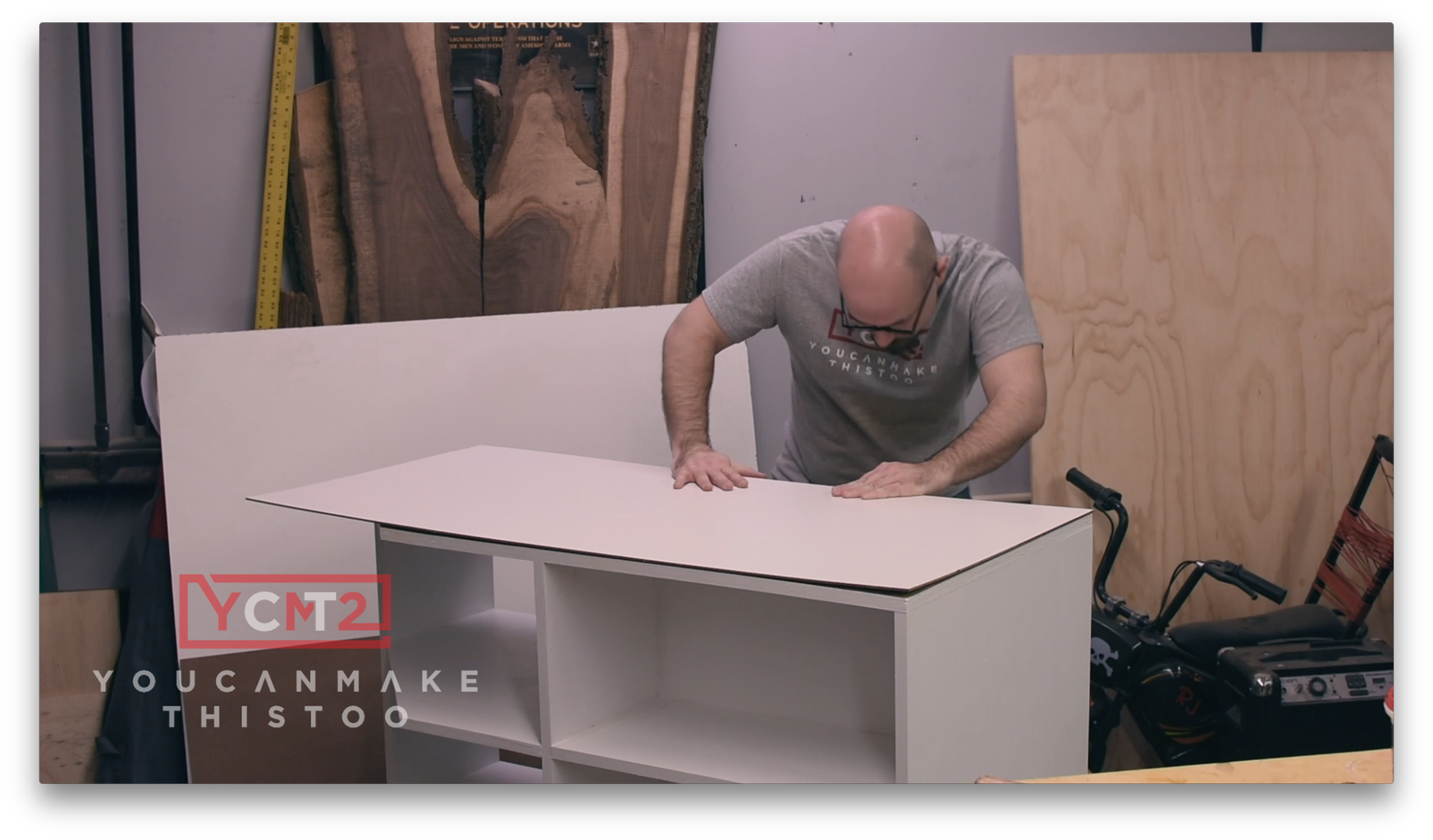 Laminate the Melamine to the Top