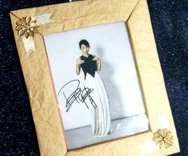Hanging Picture Frame From Cardboards