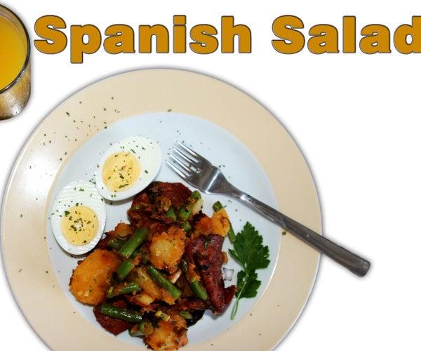 Easy Spanish Chorizo, Potato, Egg, Bean Salad Recipe