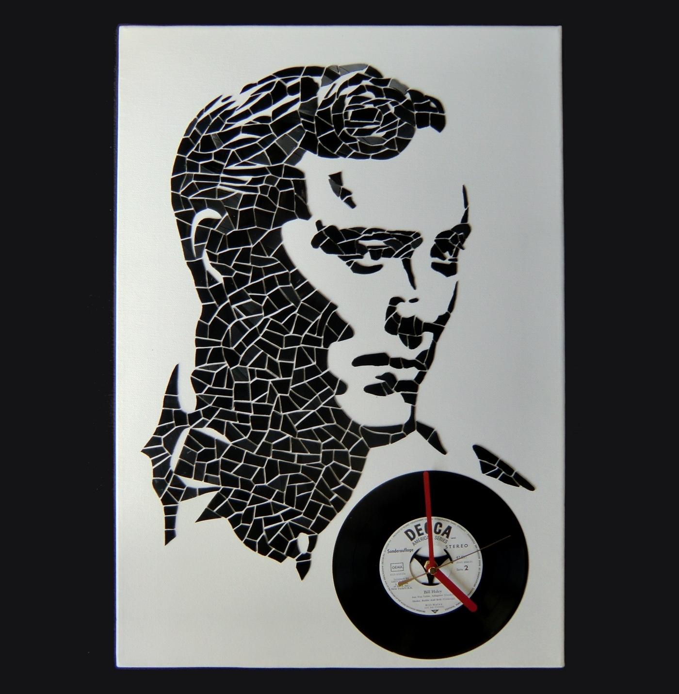 Bill Haley vinyl portrait