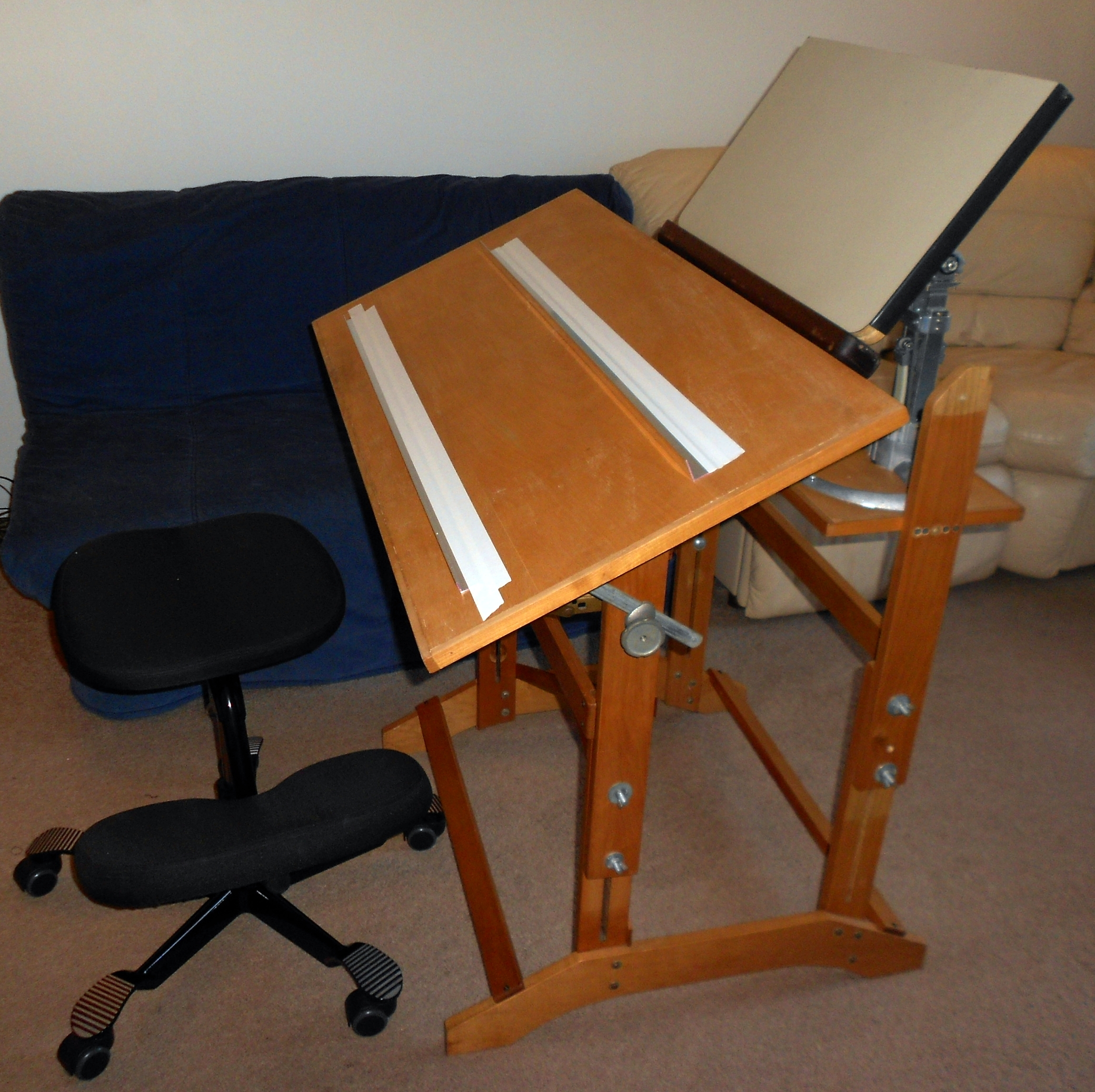 Turn a Drafting Table into a Study Juggernaut