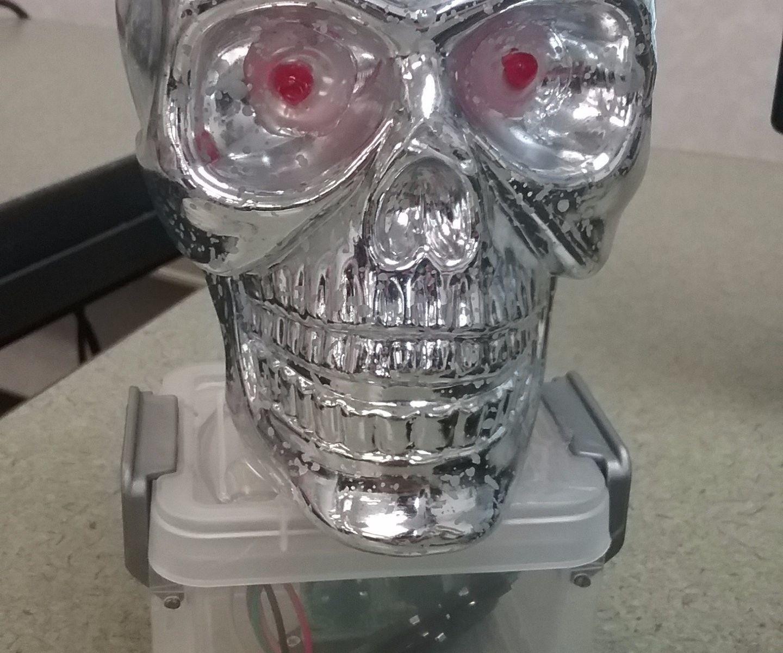DIY Halloween LED Skull Decoration