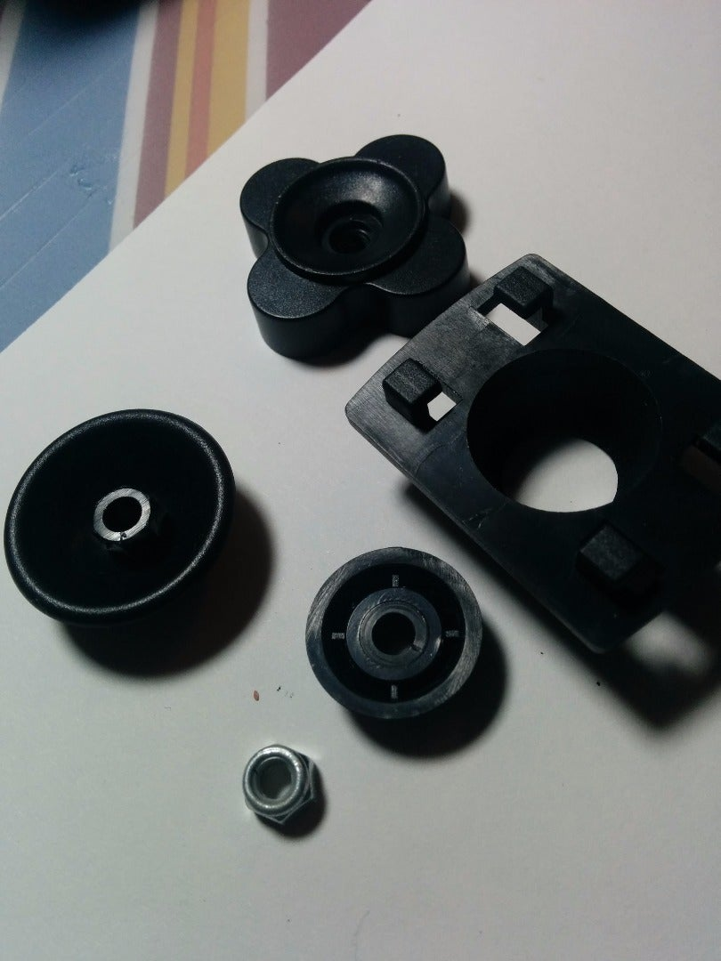 Dismantle the Clamps That Came With the Tablet Holder
