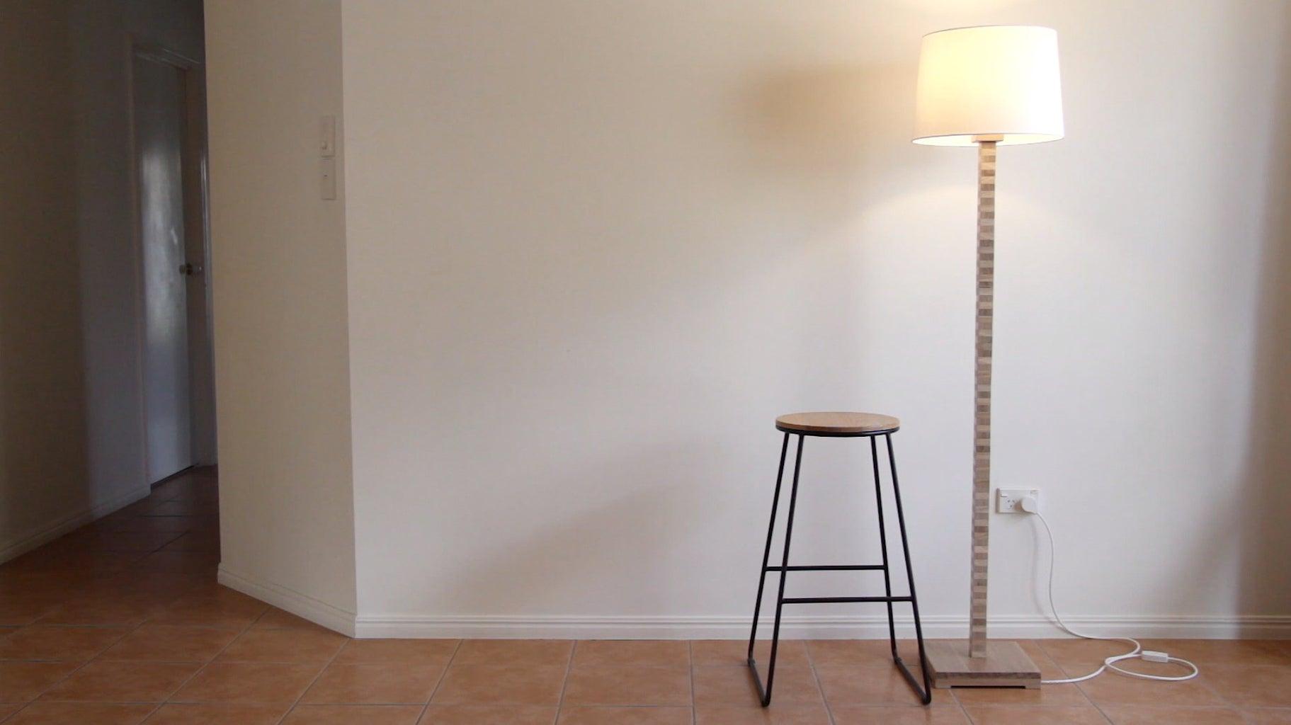 Plywood Inspired Floor Lamp