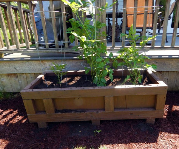 Large Outdoor Planter From a Recycled Shipping Crate