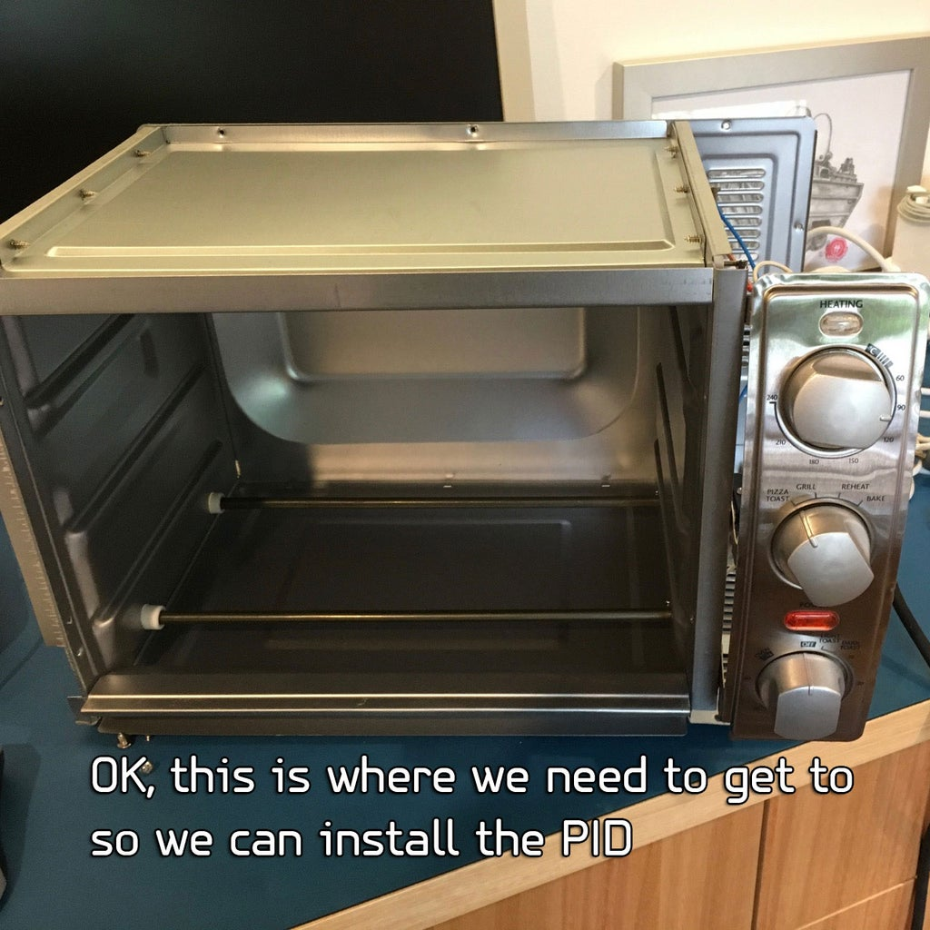Install the PID and SSR Inside the Toaster Oven