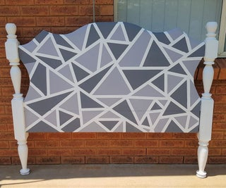 How to Paint a Geometric Design on an Old Headboard