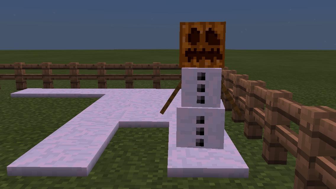 Minecraft Snowman
