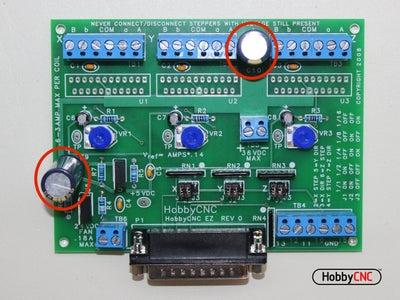 Install (2) 680uF Capacitors