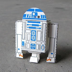 R2 - D2 Paper Toy (Star Wars Paper Craft)!