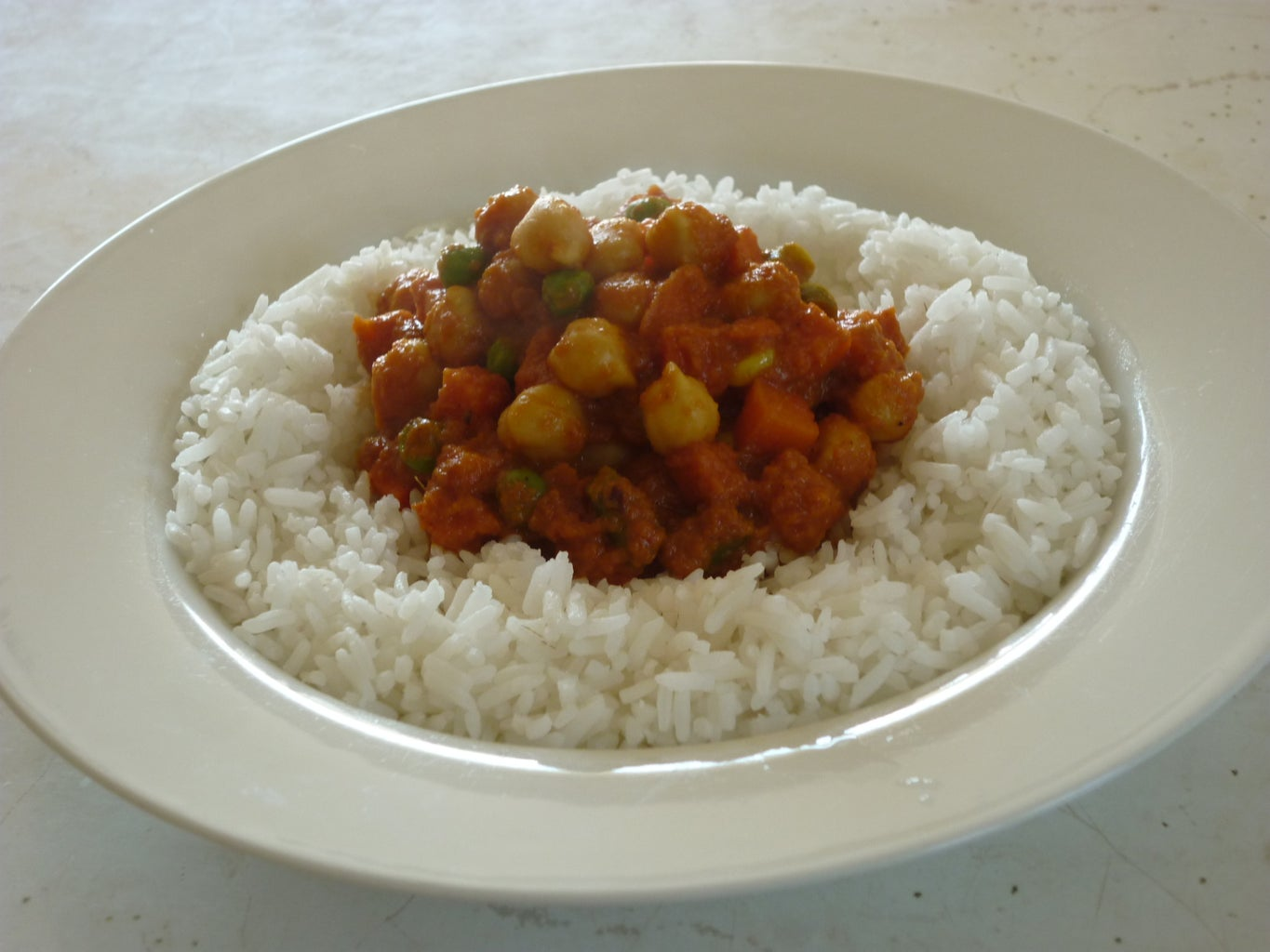 Chickpea and Mixed Vegetable Curry