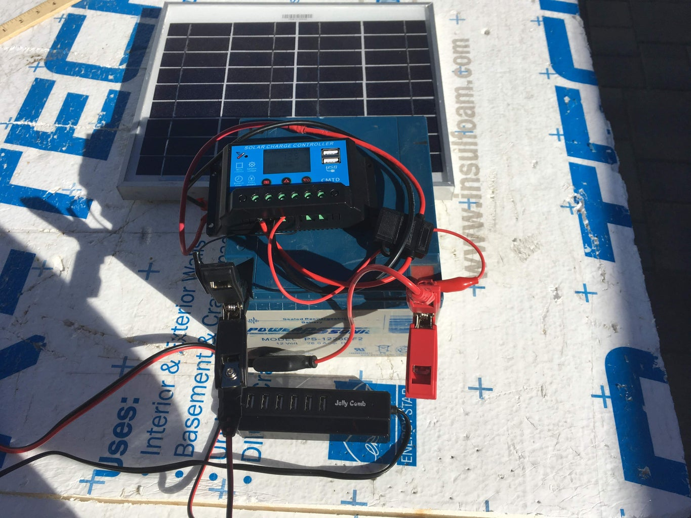 Solar Powered Phone Charging Station