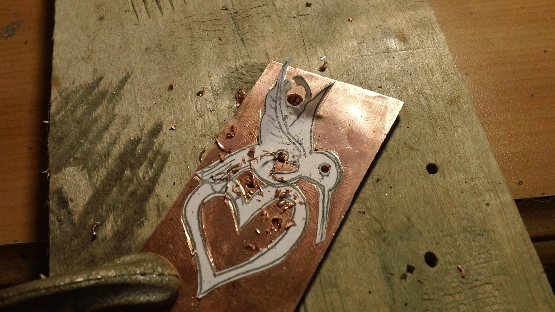 Transfering an Idea to Metal and Center Punching the Holes