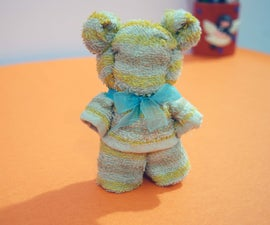 Wash Cloth Into a Teddy Bear