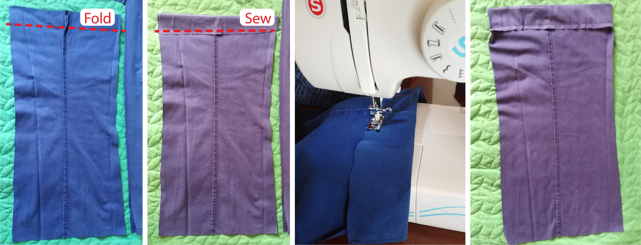 Before Sewing the D-Rings to the Bag