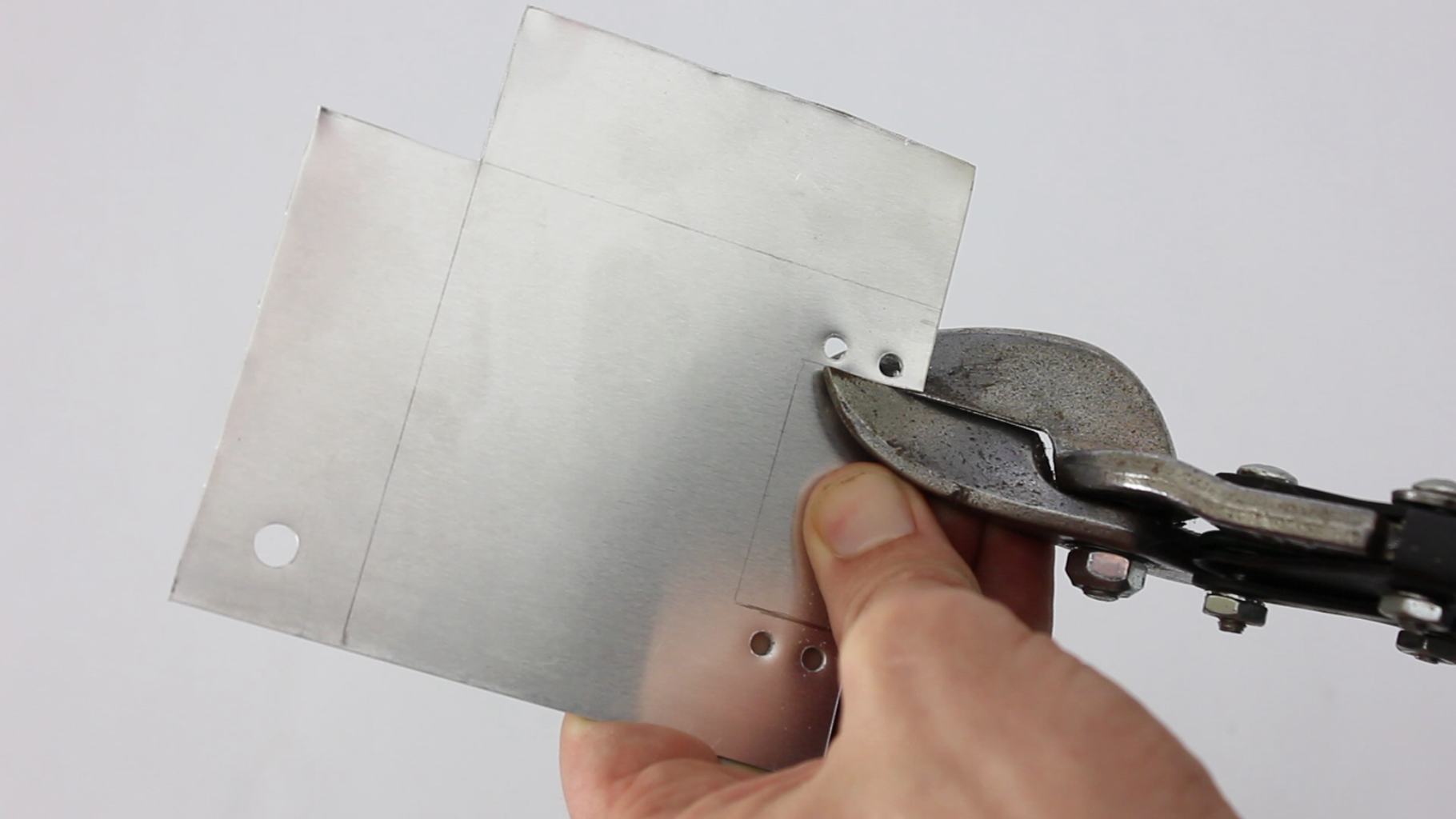 Mark and Cut the Camera Mounting Plate