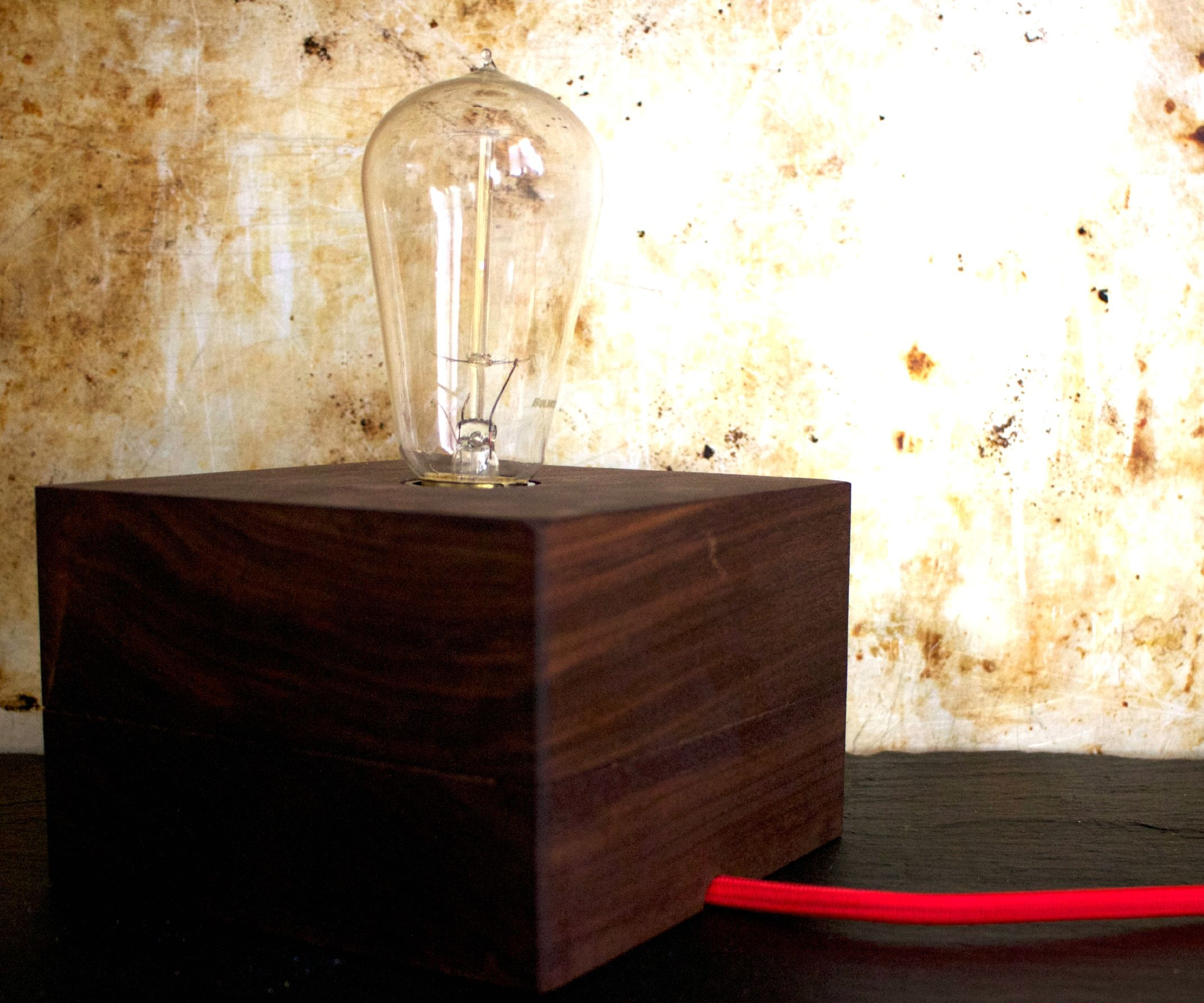 Wood Block Lamp