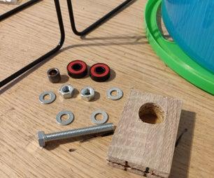 DIY Silent Hamster Wheel Using Skateboard Bearings