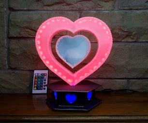 Broken LCD Recycled Into Heart Mood Light